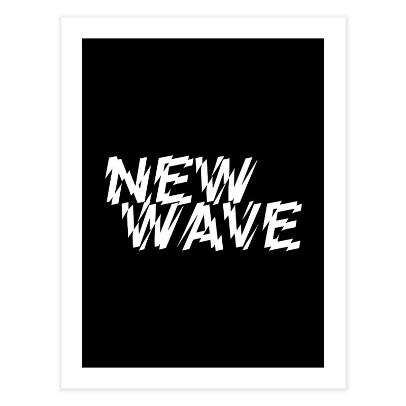 New Wave (White Design) Home Fine Art Print by HiFi Brand