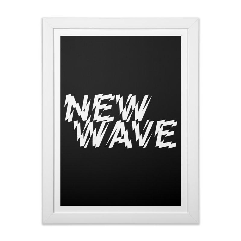 New Wave (White Design) Home Framed Fine Art Print by HiFi Brand