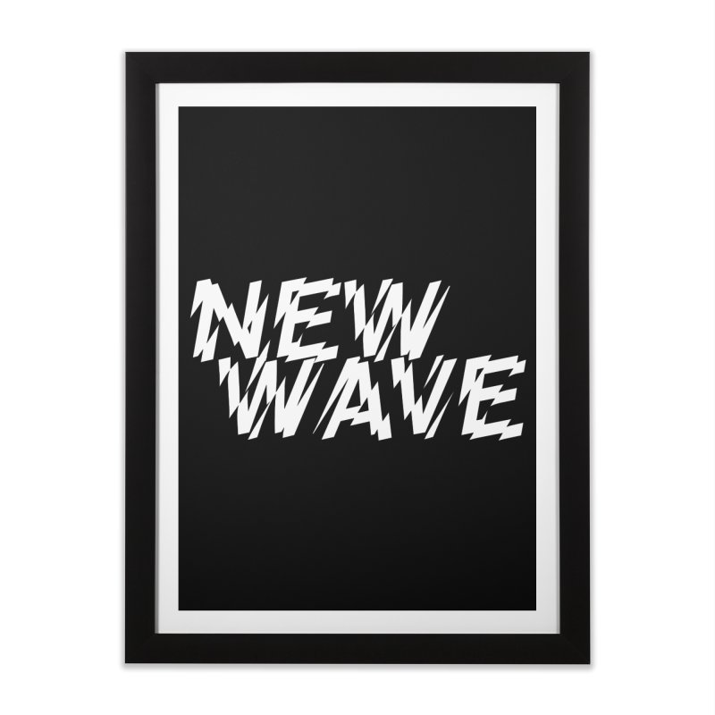 New Wave (White Design) Home Framed Fine Art Print by HiFi Brand