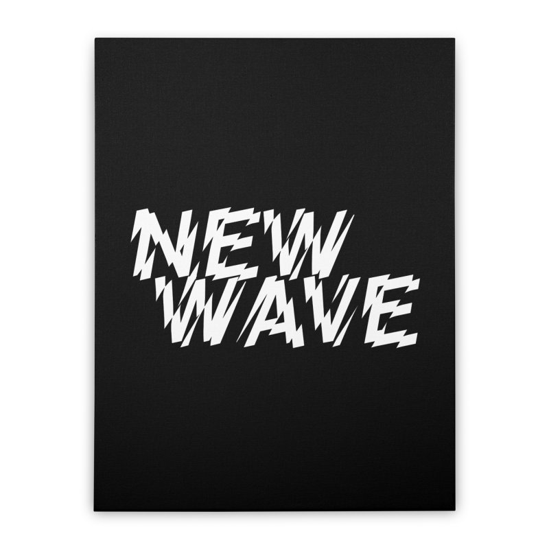 New Wave (White Design) Home Stretched Canvas by HiFi Brand
