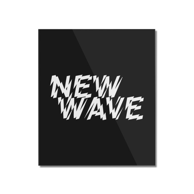 New Wave (White Design) Home Mounted Acrylic Print by HiFi Brand