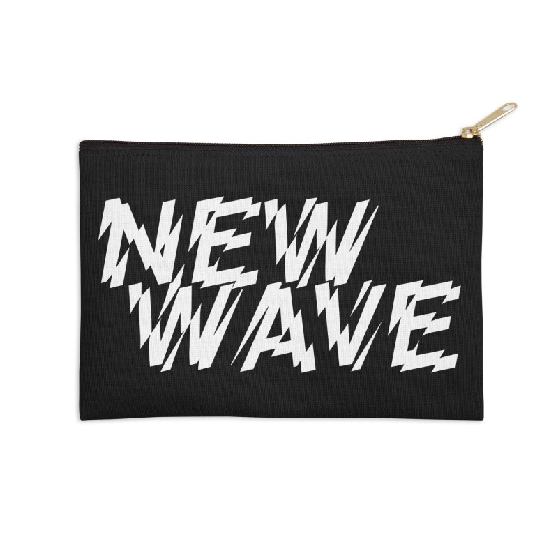 New Wave (White Design) Accessories Zip Pouch by HiFi Brand