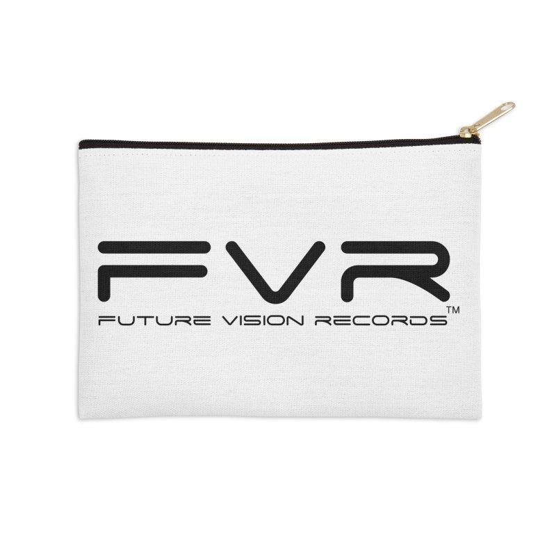 Future Vision Records (Black Logo) Accessories Zip Pouch by HiFi Brand
