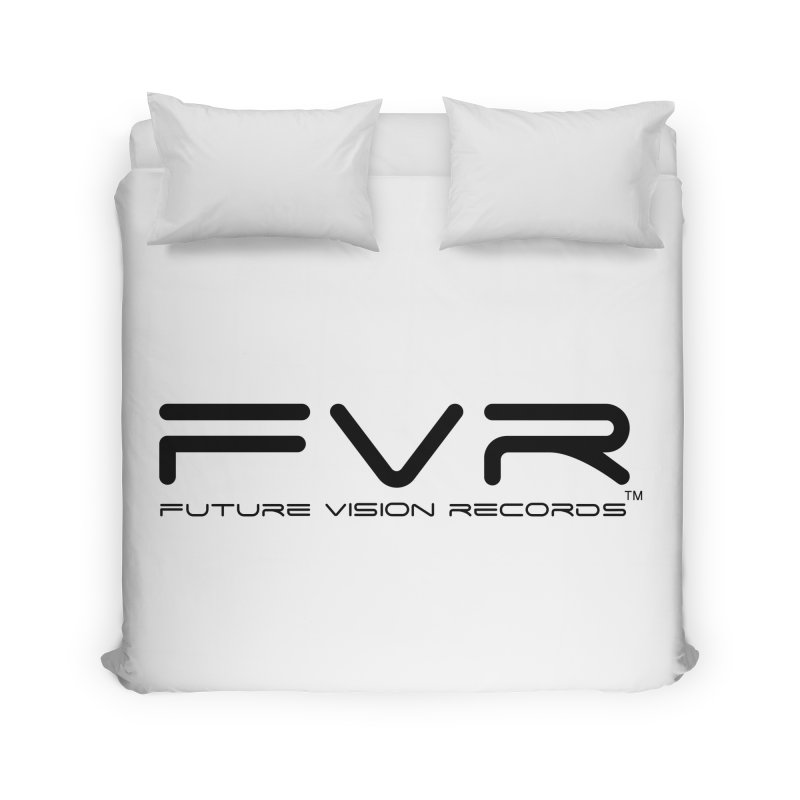 Future Vision Records (Black Logo) Home Duvet by HiFi Brand