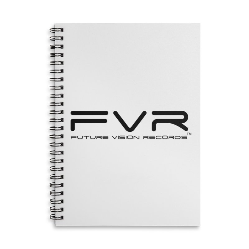 Future Vision Records (Black Logo) Accessories Lined Spiral Notebook by HiFi Brand