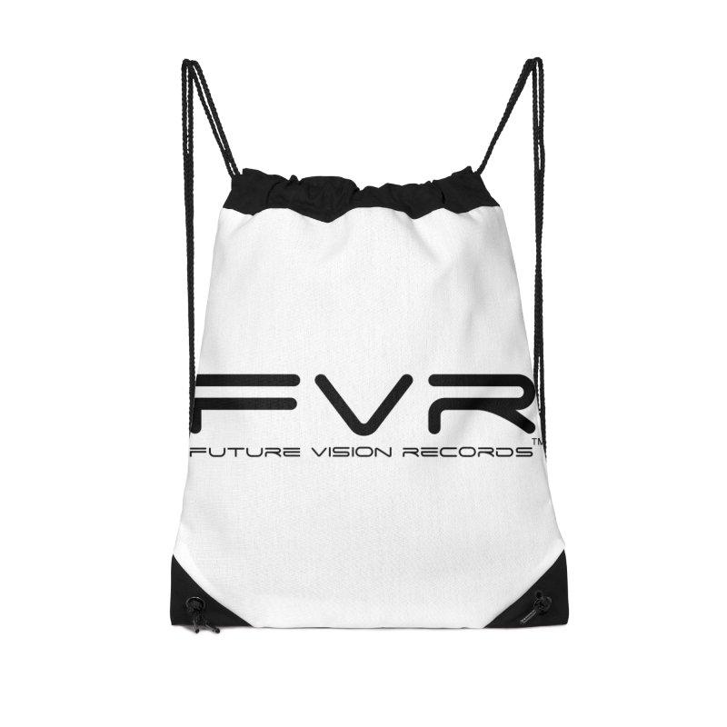 Future Vision Records (Black Logo) Accessories Drawstring Bag Bag by HiFi Brand