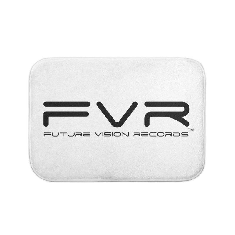 Future Vision Records (Black Logo) Home Bath Mat by HiFi Brand