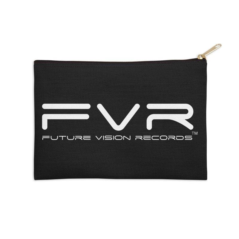 Future Vision Records (White Logo) Accessories Zip Pouch by HiFi Brand