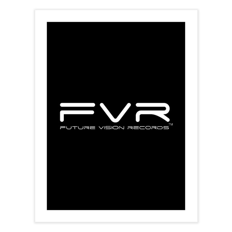 Future Vision Records (White Logo) Home Fine Art Print by HiFi Brand