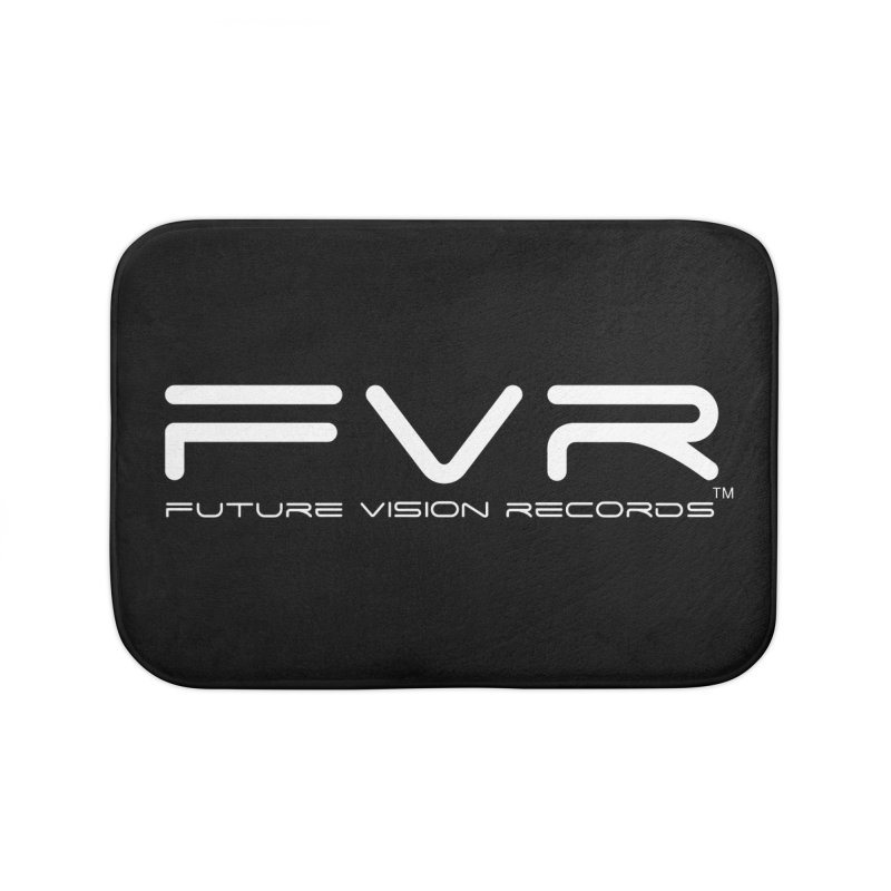 Future Vision Records (White Logo) Home Bath Mat by HiFi Brand