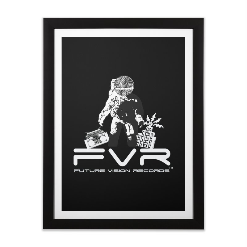 Future Vision Records Home Framed Fine Art Print by HiFi Brand