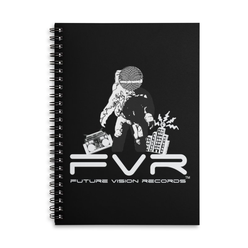 Future Vision Records Accessories Lined Spiral Notebook by HiFi Brand