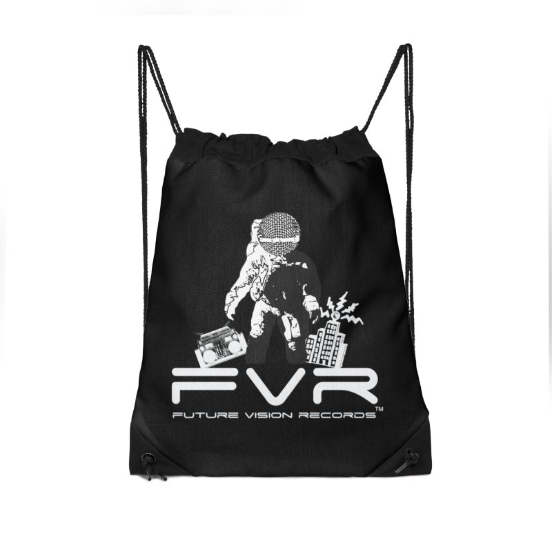 Future Vision Records Accessories Drawstring Bag Bag by HiFi Brand