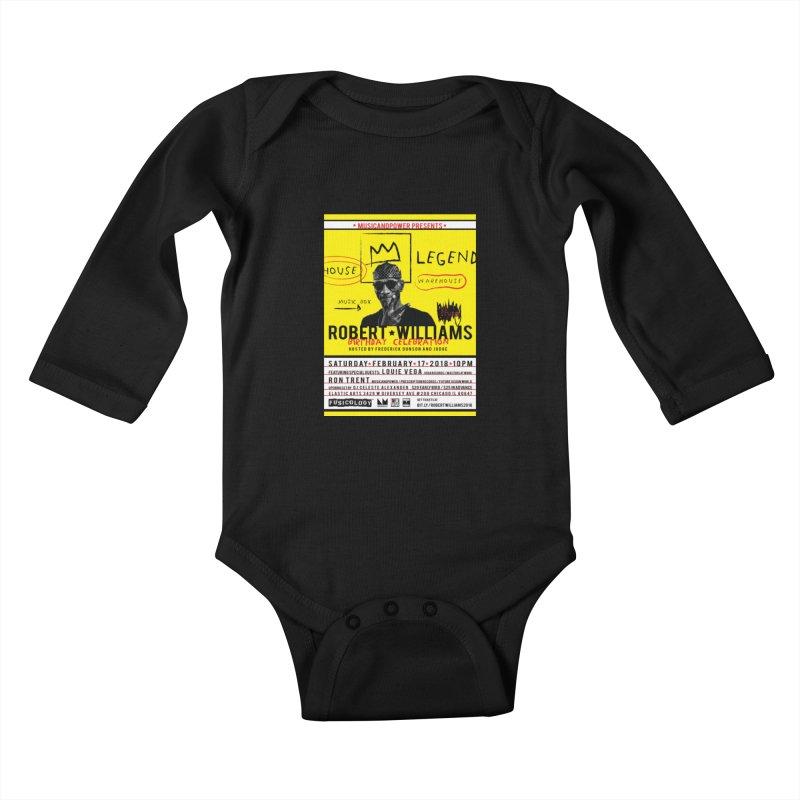 Robert Williams Birthday Celebration 2018 Kids Baby Longsleeve Bodysuit by HiFi Brand