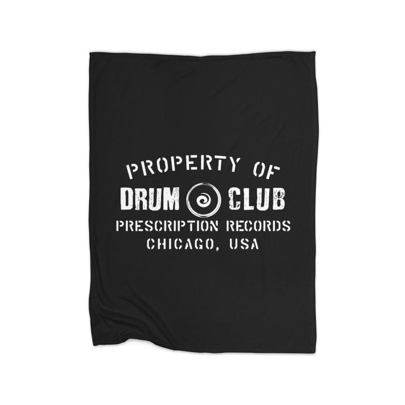 Prescription Records: Chicago Drum Club (White)  Home Blanket by HiFi Brand