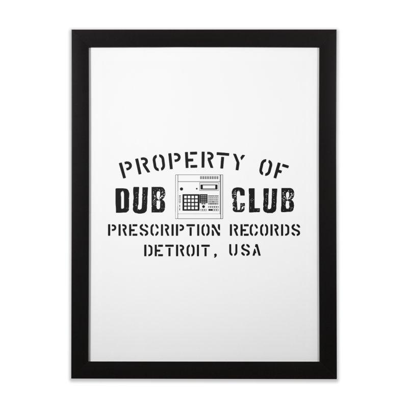 Prescription Records: Detroit Dub Club (Black)  Home Framed Fine Art Print by HiFi Brand