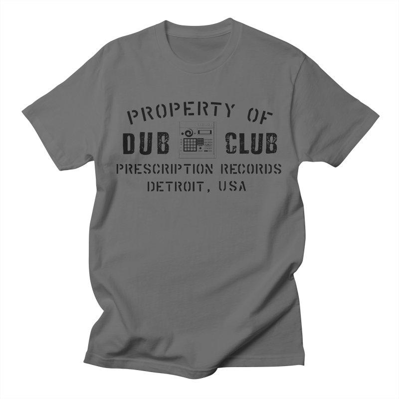 Prescription Records: Detroit Dub Club (Black)  Men's T-Shirt by HiFi Brand