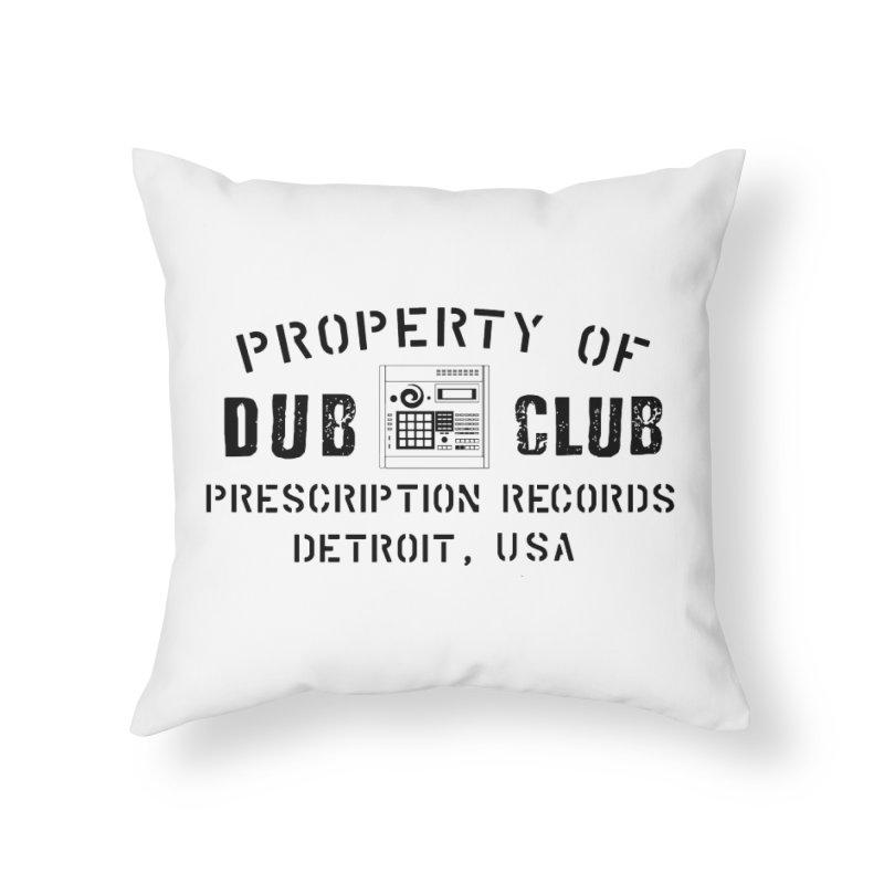 Prescription Records: Detroit Dub Club (Black)  Home Throw Pillow by HiFi Brand