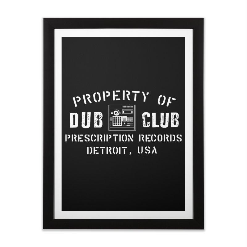Prescription Records: Detroit Dub Club (White)  Home Framed Fine Art Print by HiFi Brand