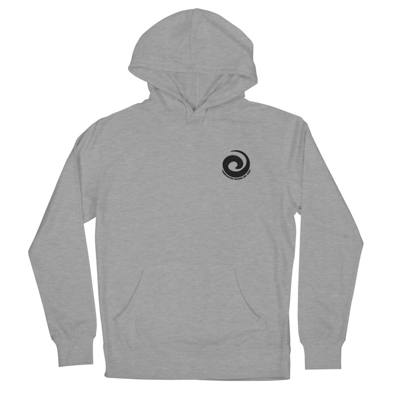 Prescription Records Small Logo (Black) Women's French Terry Pullover Hoody by HiFi Brand
