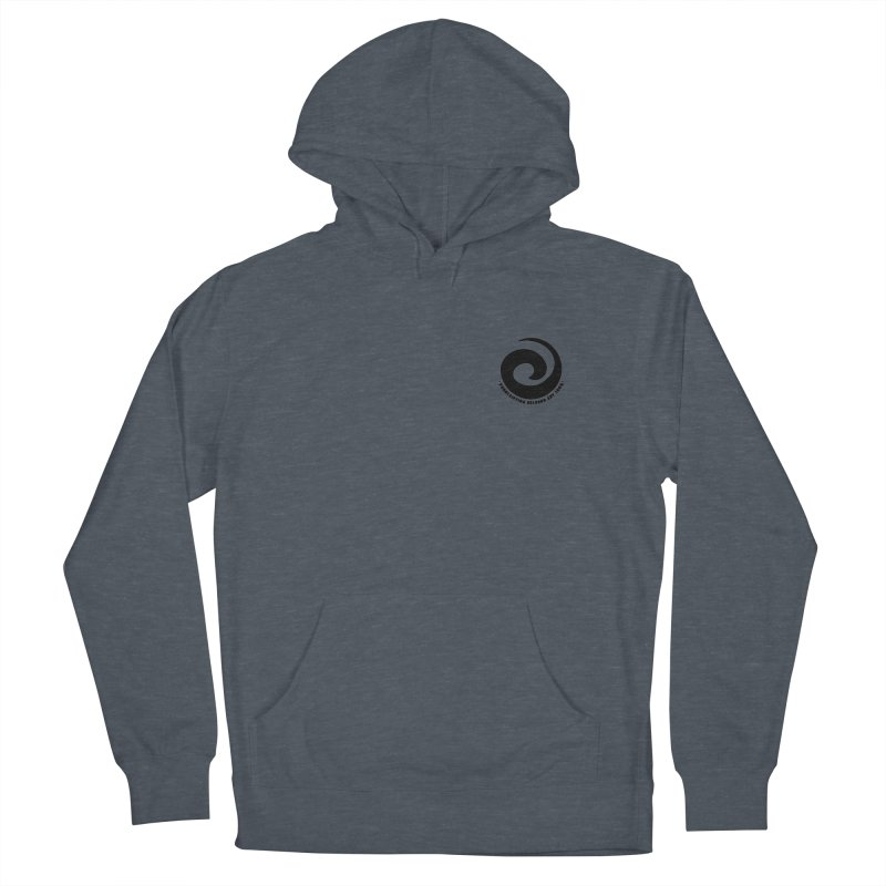 Prescription Records Small Logo (Black) Men's French Terry Pullover Hoody by HiFi Brand