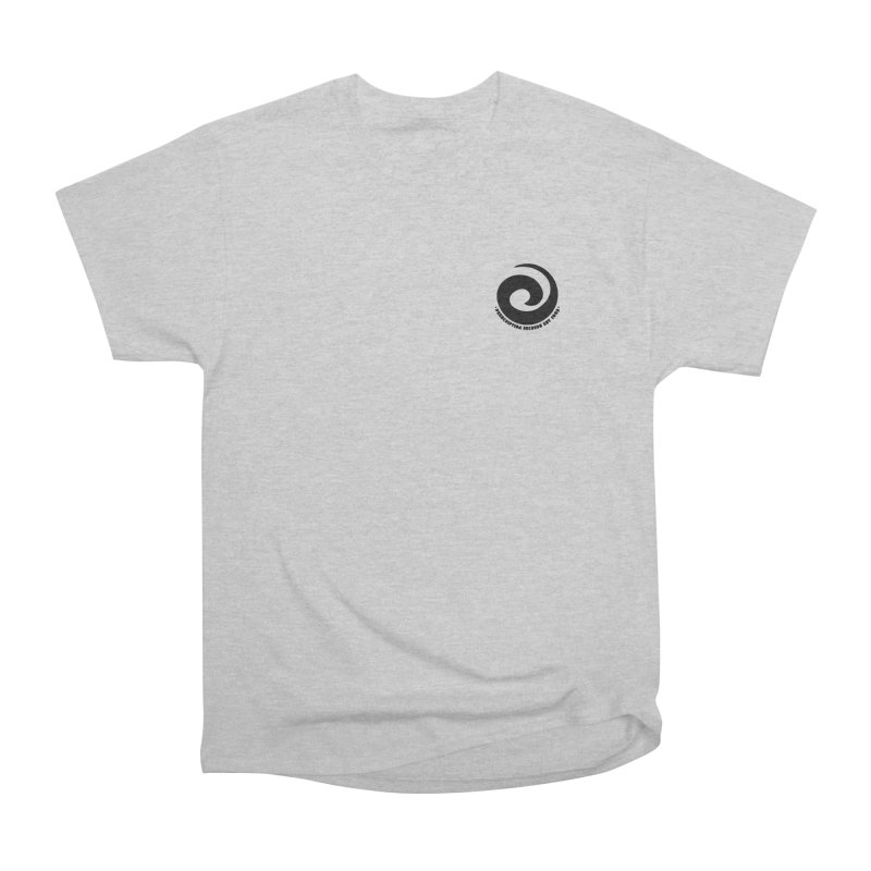 Prescription Records Small Logo (Black) Men's Heavyweight T-Shirt by HiFi Brand