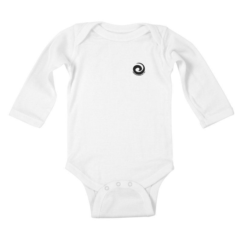 Prescription Records Small Logo (Black) Kids Baby Longsleeve Bodysuit by HiFi Brand