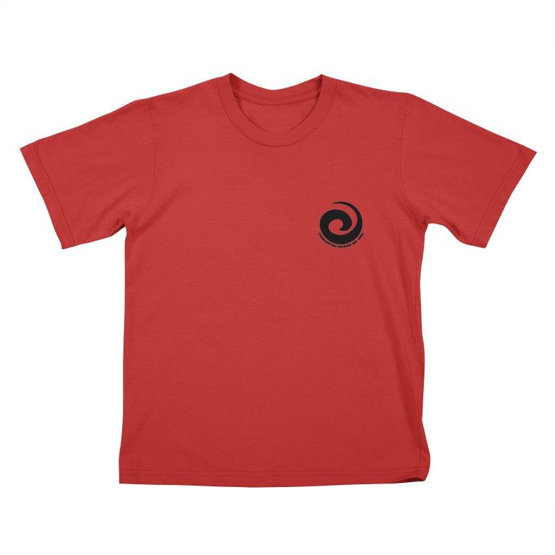 Prescription Records Small Logo (Black) Kids T-Shirt by HiFi Brand