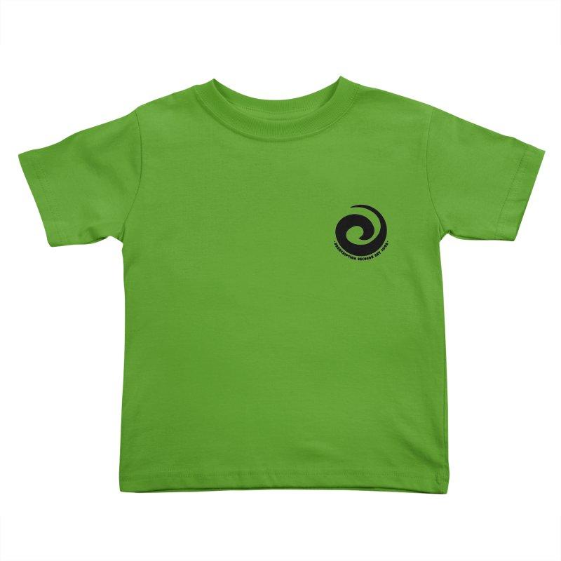 Prescription Records Small Logo (Black) Kids Toddler T-Shirt by HiFi Brand