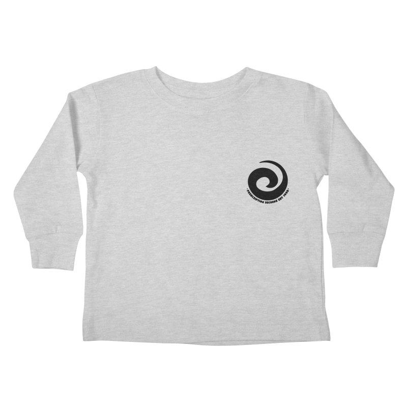 Prescription Records Small Logo (Black) Kids Toddler Longsleeve T-Shirt by HiFi Brand