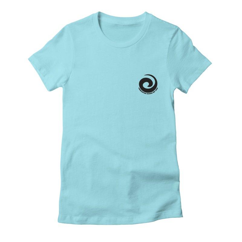 Prescription Records Small Logo (Black) Women's Fitted T-Shirt by HiFi Brand