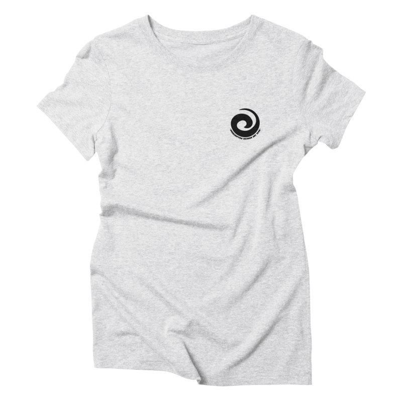 Prescription Records Small Logo (Black) Women's Triblend T-Shirt by HiFi Brand