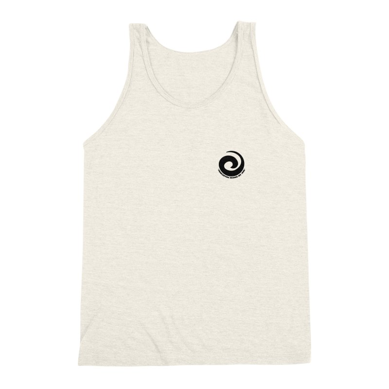 Prescription Records Small Logo (Black) Men's Triblend Tank by HiFi Brand