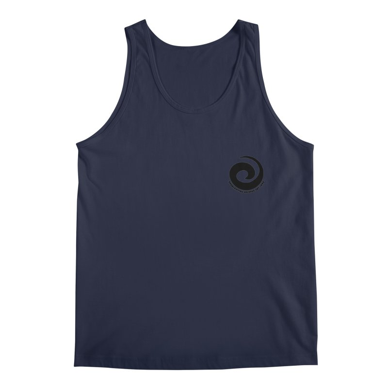 Prescription Records Small Logo (Black) Men's Regular Tank by HiFi Brand
