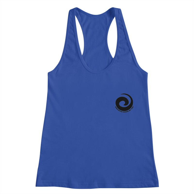Prescription Records Small Logo (Black) Women's Racerback Tank by HiFi Brand
