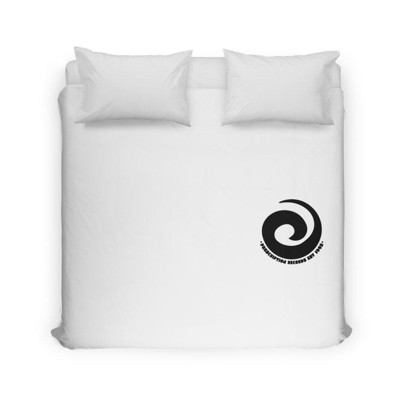 Prescription Records Small Logo (Black) Home Duvet by HiFi Brand