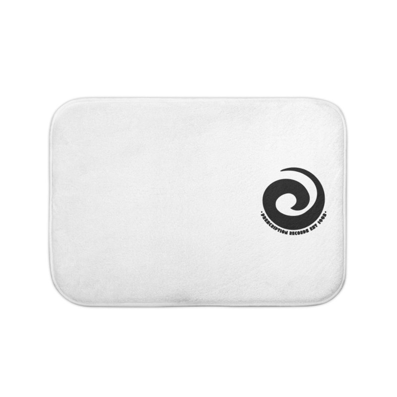 Prescription Records Small Logo (Black) Home Bath Mat by HiFi Brand