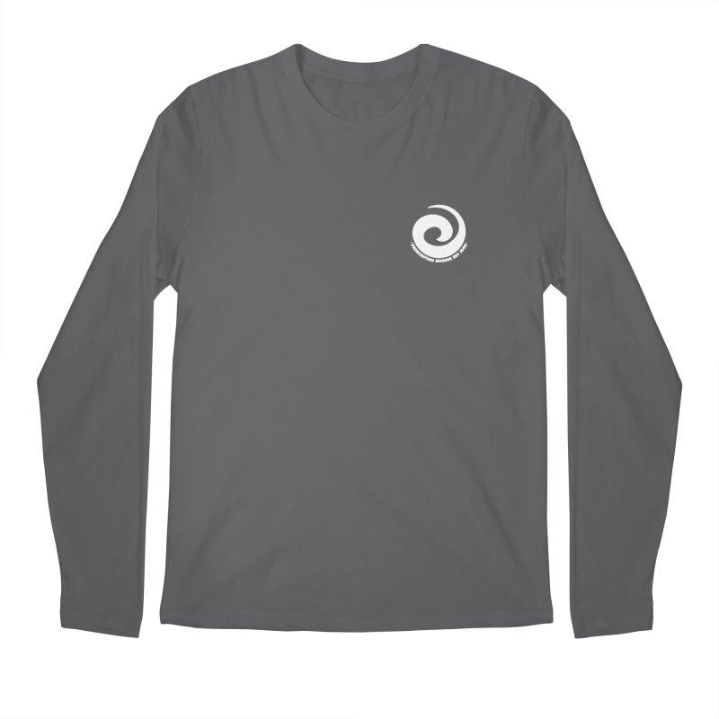 Prescription Records Small Logo (White) Men's Regular Longsleeve T-Shirt by HiFi Brand