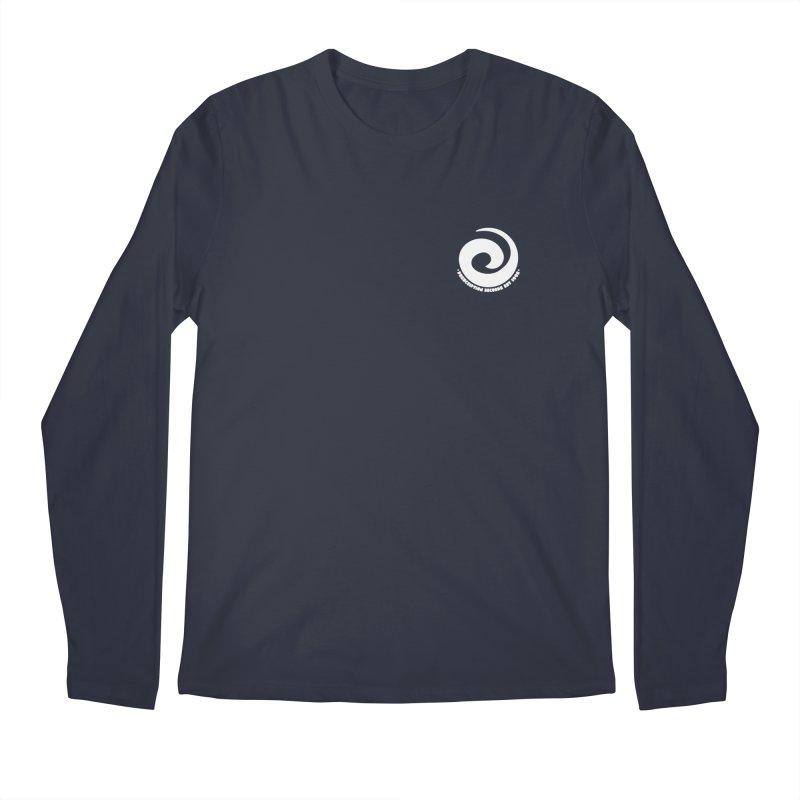 Prescription Records Small Logo (White) Men's Longsleeve T-Shirt by HiFi Brand