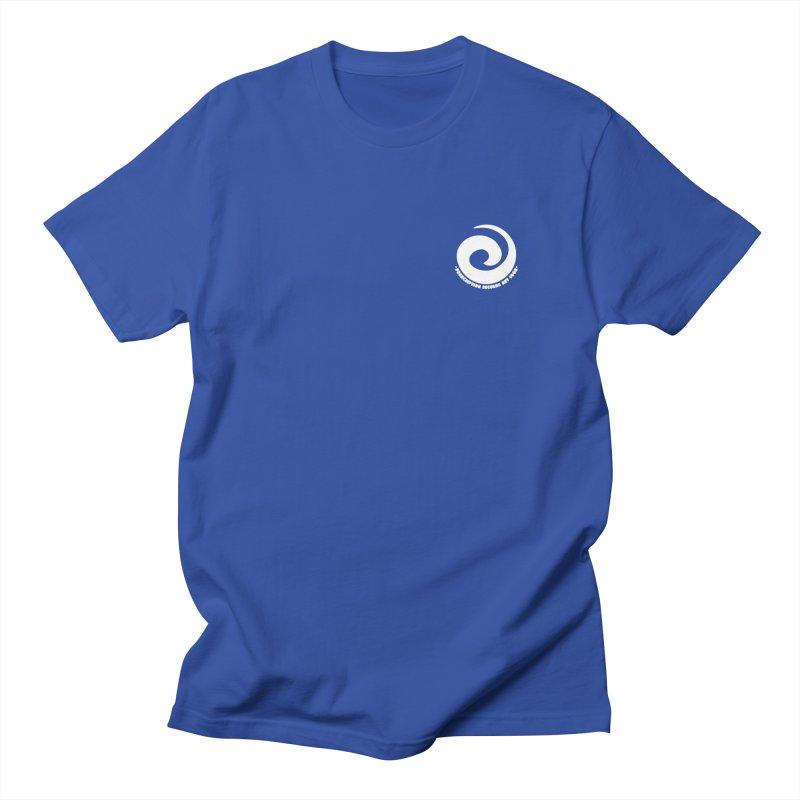 Prescription Records Small Logo (White) Men's T-Shirt by HiFi Brand