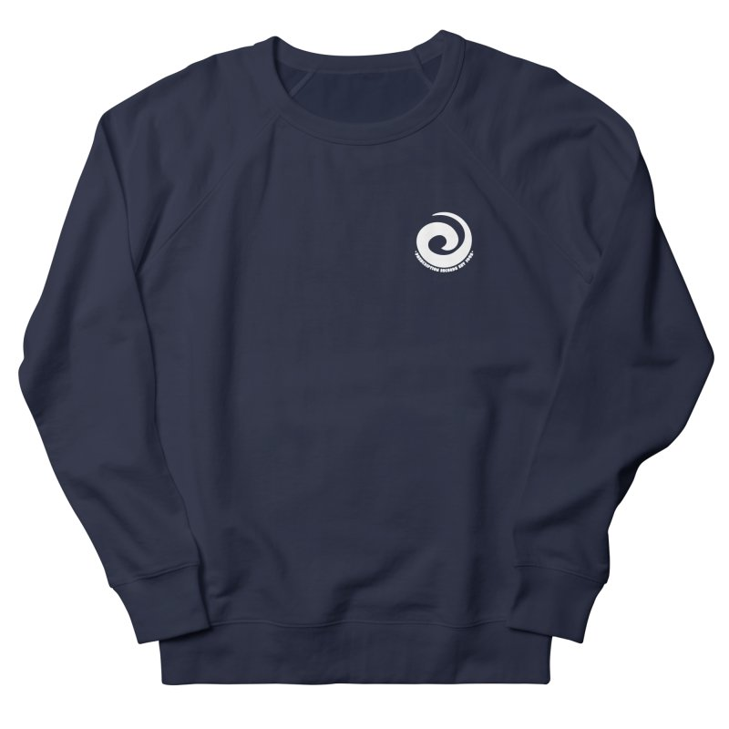 Prescription Records Small Logo (White) Women's French Terry Sweatshirt by HiFi Brand