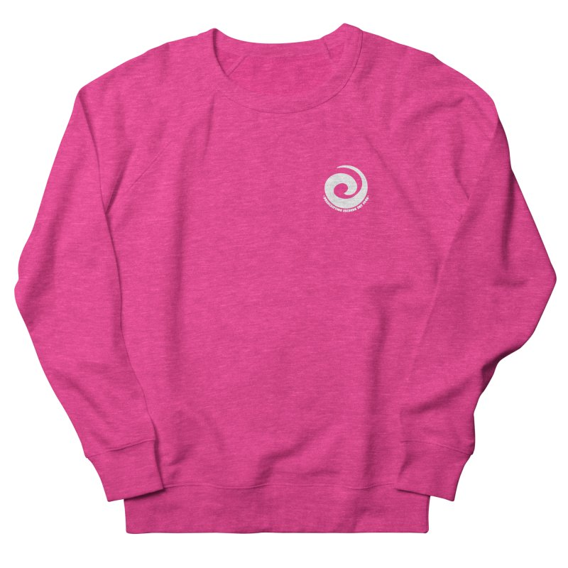 Prescription Records Small Logo (White) Men's French Terry Sweatshirt by HiFi Brand