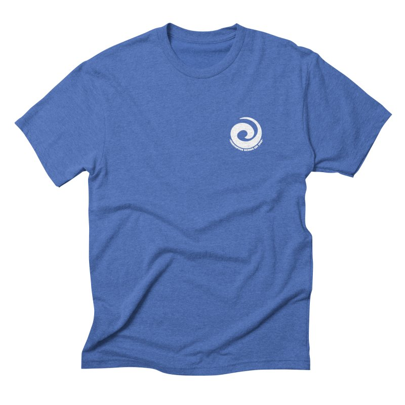 Prescription Records Small Logo (White) Men's Triblend T-Shirt by HiFi Brand
