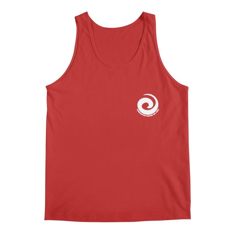 Prescription Records Small Logo (White) Men's Tank by HiFi Brand