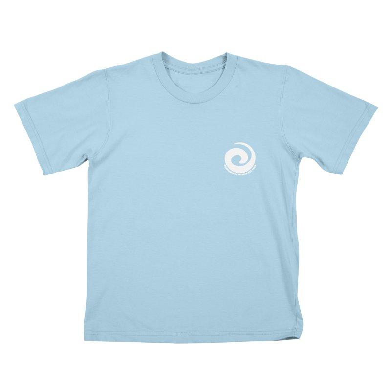 Prescription Records Small Logo (White) Kids T-Shirt by HiFi Brand