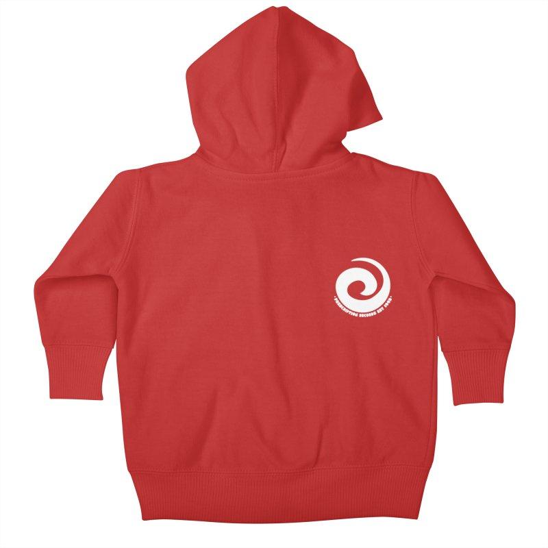 Prescription Records Small Logo (White) Kids Baby Zip-Up Hoody by HiFi Brand