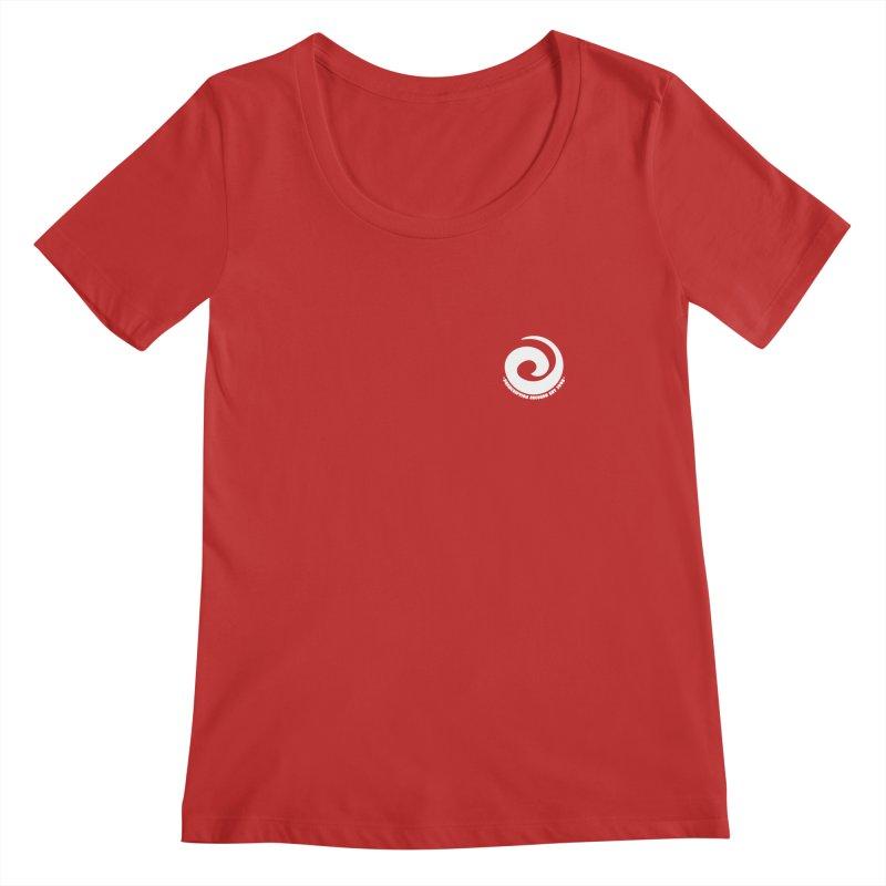 Prescription Records Small Logo (White) Women's Regular Scoop Neck by HiFi Brand