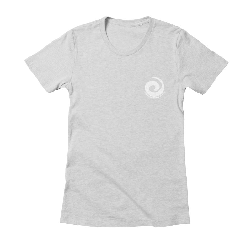 Prescription Records Small Logo (White) Women's Fitted T-Shirt by HiFi Brand