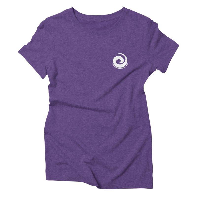 Prescription Records Small Logo (White) Women's Triblend T-Shirt by HiFi Brand