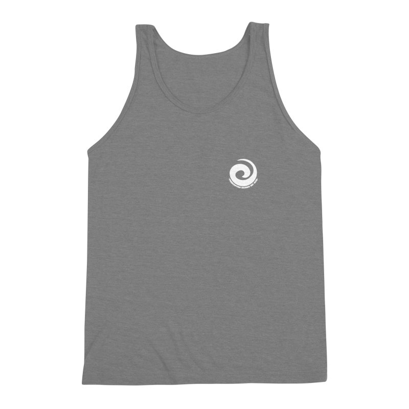 Prescription Records Small Logo (White) Men's Triblend Tank by HiFi Brand